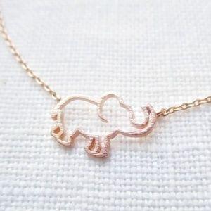 NWT Gold Elephant Necklace